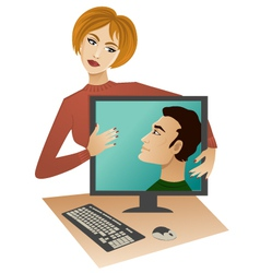 Internet dating vector image