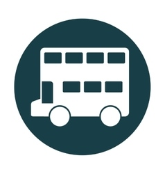 Bus london isolated icon vector