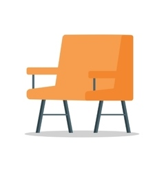 Armchair in flat design vector