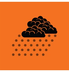 Snowfall icon vector image
