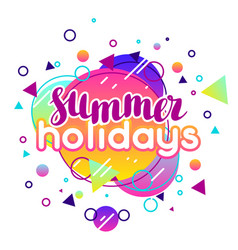 summer holidays abstract in vibrant vector image