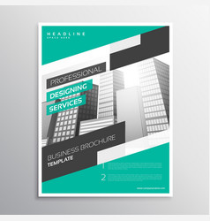 Modern creative business leaflet template in a4 vector