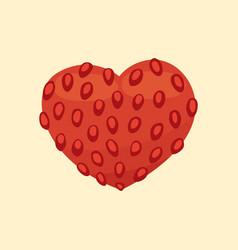 cartoon healty fruit heart isolated vector image