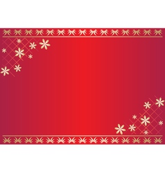 red floral card with gradient vector image