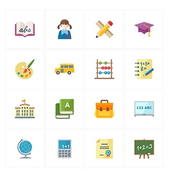 Flat education icons - set 1 vector