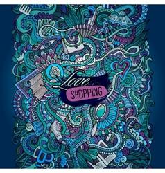 decorative design card love shopping vector image