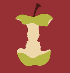 Apple with portraits vector