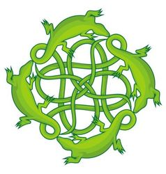 lizards square knot vector image