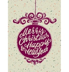 Holiday greeting card vector