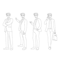 Business man full body vector