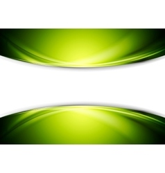 Bright green wavy abstract design vector