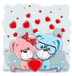 Lovers dogs vector
