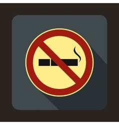 No smoking sign icon in flat style vector