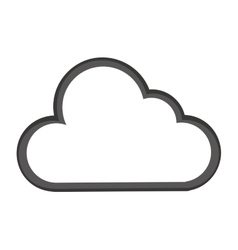 Cloud computing silhouette icon vector