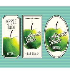 Apple juice labels set vector image vector image