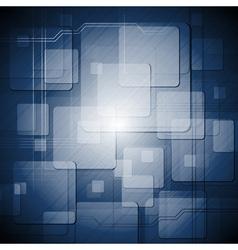Blue hi-tech design vector