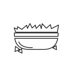 Bowl of nachos outline vector