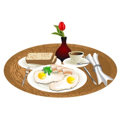 breakfast tray vector image vector image