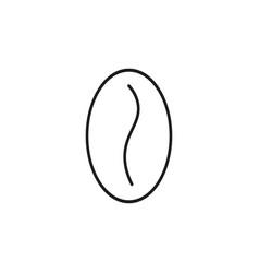Cofee bean icon vector