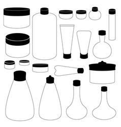 Cosmetic cream bottle vector