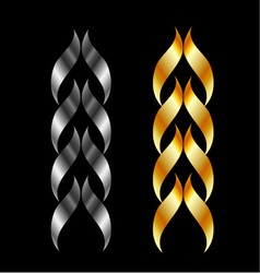 Design element in gold and silver vector image