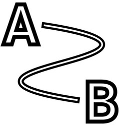 distance line icon vector image