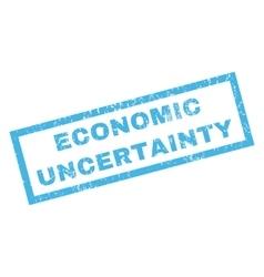 Economic Uncertainty Rubber Stamp vector image vector image