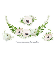Flower bouquet floral wreath design object vector