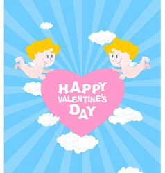 Happy Valentines day Greeting card for Valentines vector image vector image