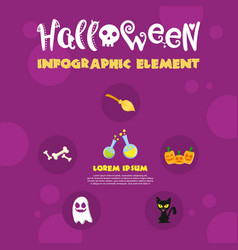infographic halloween element design collection vector image