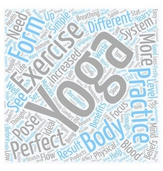 Is yoga the perfect exercise text background vector