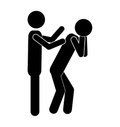 Man touching another person vector