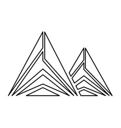 mountain peak emblem icon vector image