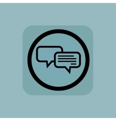 Pale blue chatting sign vector