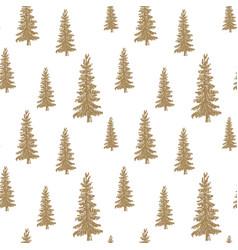 pine tree hand drawn sketch retro vintage vector image vector image