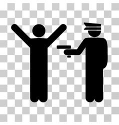 Police arrest icon vector