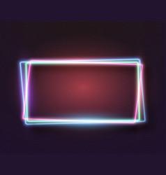 Realistic neon frame icon vector