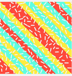 Retro seamless pattern in memphis style design vector