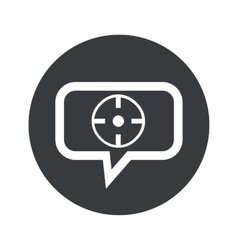 Round target dialog icon vector