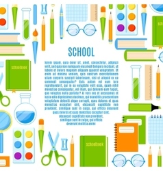 School frame with supplies design vector
