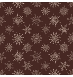 Seamless Christmas dark pattern with drawn vector image vector image