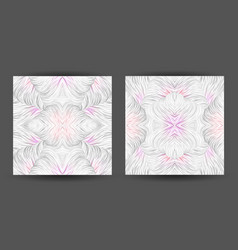 Set abstract pattern seamless line art tracery vector