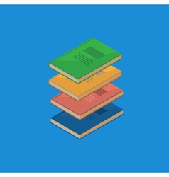 Set of 4 isometric books vector image vector image