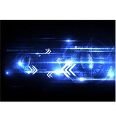 technological fingerprint scanning hud security vector image vector image