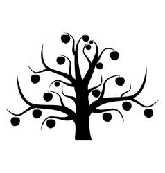 The unusual apple-tree vector