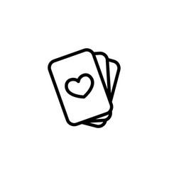 thin line playing cards icon vector image