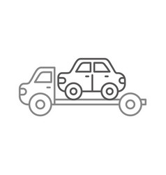 tow truck assistance emergency for car vector image