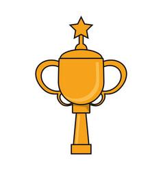 Trophy star sport golden image vector