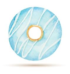 Watercolor donuts vector