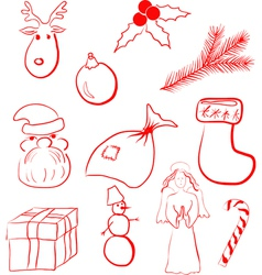 xmas set vector image